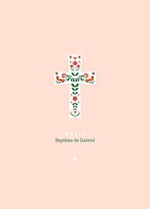 Livret de messe marguerite courtieu croix folk rouge