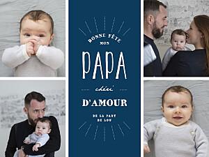 Affichette photos parents chéris bleu marine