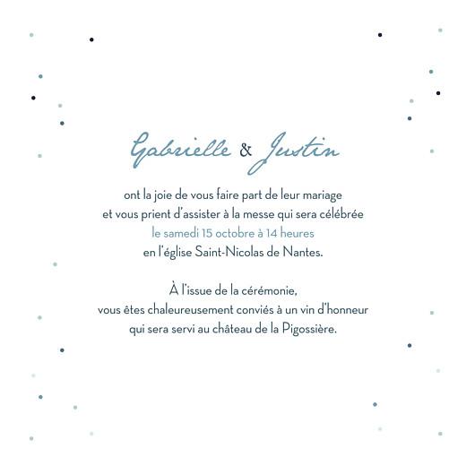 Faire-part de mariage Nuit d'été 4 pages (dorure) bleu - Page 3