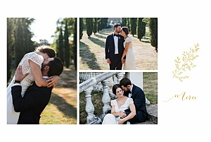 Carte de remerciement mariage original délicatesse jaune