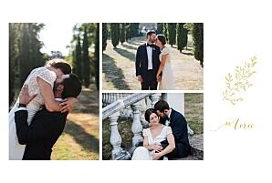 Carte de remerciement mariage vintage délicatesse jaune