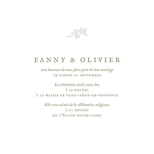 Faire-part de mariage Provence (4 pages) olive - Page 3