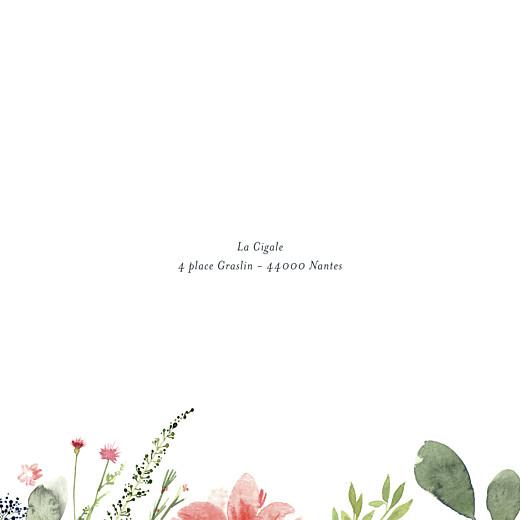 Faire-part de mariage Fleurs aquarelle crème - Page 2
