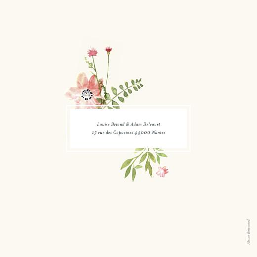 Faire-part de mariage Fleurs aquarelle crème - Page 4