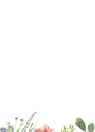 Livret de messe mariage Fleurs aquarelle crème - Page 2