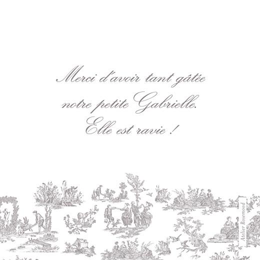 Carte de remerciement Toile de jouy photo taupe - Page 2