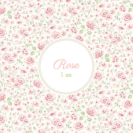 Carte d'anniversaire Félicité rose