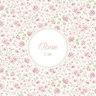 Carte d'anniversaire Félicité rose finition