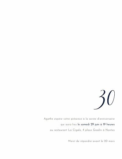 Carte D Invitation Anniversaire Adulte Etincelles Dorure Rosemood Be