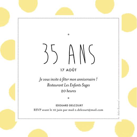 Carte D Invitation Anniversaire Adulte Big Dots Rosemood Be