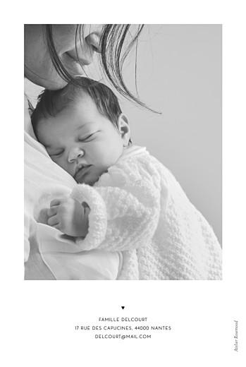 Faire-part de naissance Grand jour (portrait) blanc - Page 2