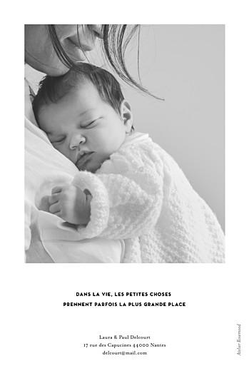 Faire-part de naissance Grand événement (portrait) blanc - Page 2