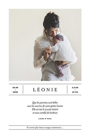 Faire-part de naissance Grand événement (portrait) blanc