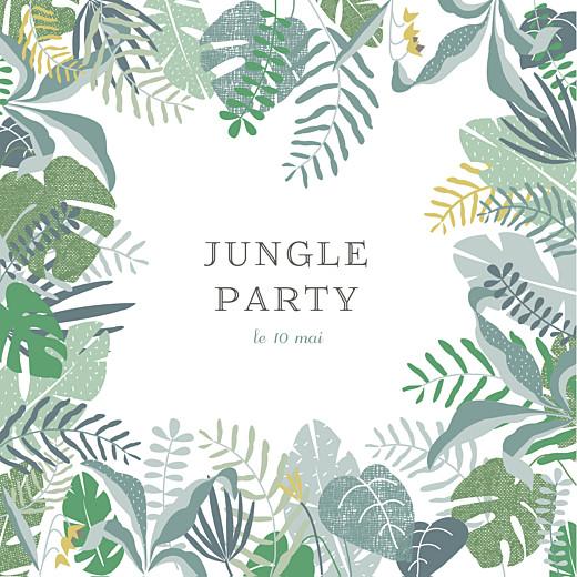 Carte D Invitation Anniversaire Adulte Jardin Tropical Rosemood Be