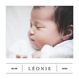 Faire-part de naissance jumeaux grand événement (mini format) blanc