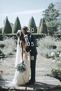 Carte de remerciement mariage moderne minimal blanc