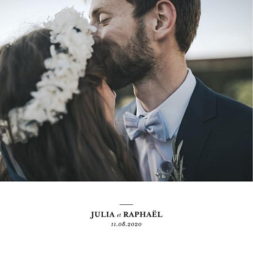 Carte de remerciement mariage Tout simplement carré blanc