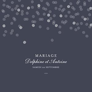 Faire-part de mariage gris polka encre