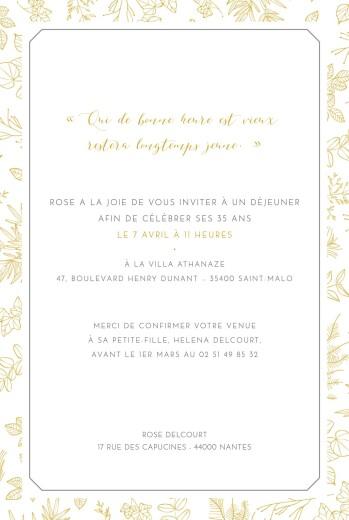 Carte Anniversaire Nantes.Carte D Invitation Anniversaire Adulte Delicatesse Rosemood Be