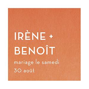 Etiquette de mariage orange aquarelle orange