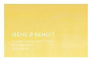Carte de correspondance aquarelle jaune