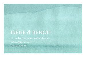 Carte de correspondance bleu aquarelle bleu