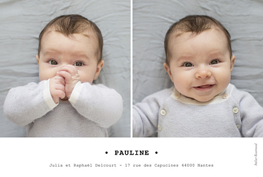 Faire-part de naissance Minimal (paysage) blanc - Page 2