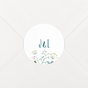 Stickers mariage Bouquet sauvage blue