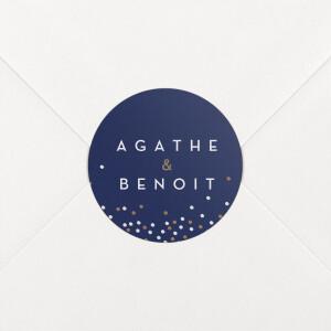 Stickers mariage Confetti bleu