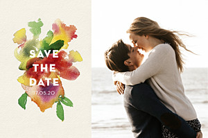 Save the date moderne bloom std beige