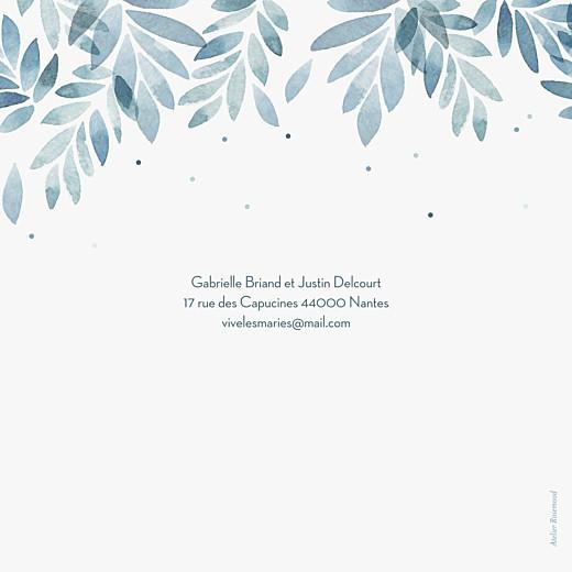 Faire-part de mariage Nuit d'été 4 pages (dorure) bleu - Page 4