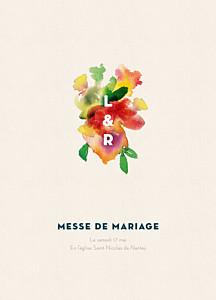 Livret de messe mariage bloom beige