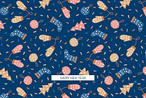 Carte de voeux orange festif bleu