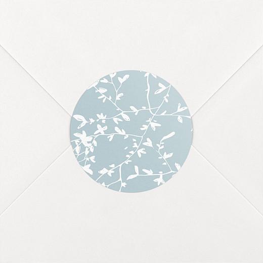 Stickers pour enveloppes mariage Reflets dans l'eau vert - Vue 2