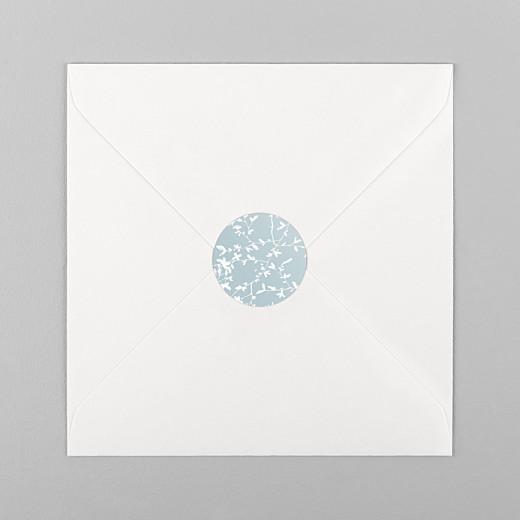 Stickers pour enveloppes mariage Reflets dans l'eau vert - Vue 1