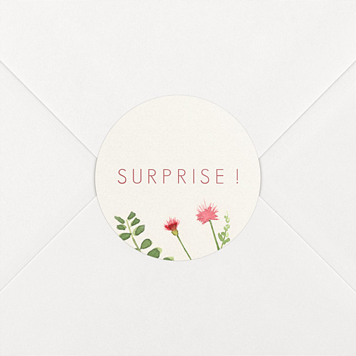 Stickers mariage Fleurs aquarelle crème - Vue 2