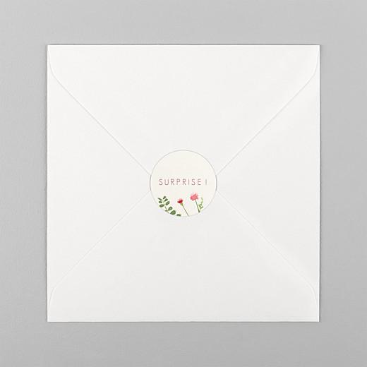 Stickers mariage Fleurs aquarelle crème - Vue 1