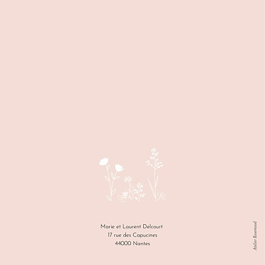 Faire-part de naissance Sieste sur l'herbe rose - Page 4