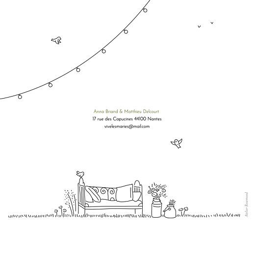 Faire-part de mariage Promesse bohème blanc - Page 4