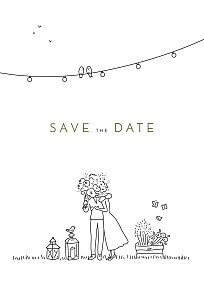 Save the date promesse bohème blanc