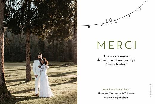 Carte de remerciement mariage Promesse bohème blanc - Page 2