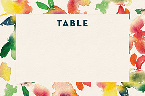 Marque-table mariage moderne bloom beige