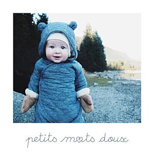 Carte de remerciement design petits mots doux photo blanc