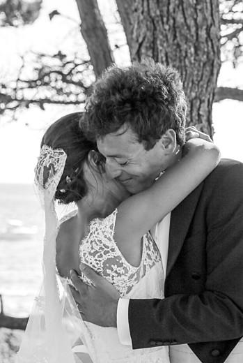Carte de remerciement mariage Galerie pleine page (dorure) blanc