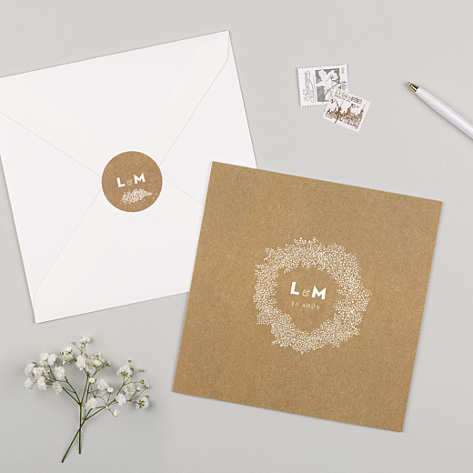 Stickers mariage Gypsophile kraft - Gamme