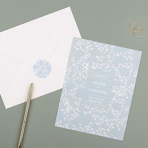 Stickers pour enveloppes mariage Reflets dans l'eau vert - Gamme