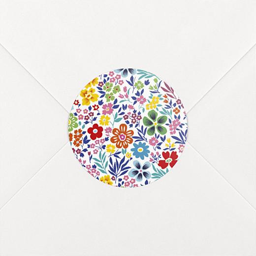 Stickers pour enveloppes naissance Mille fleurs multi-couleur - Vue 2
