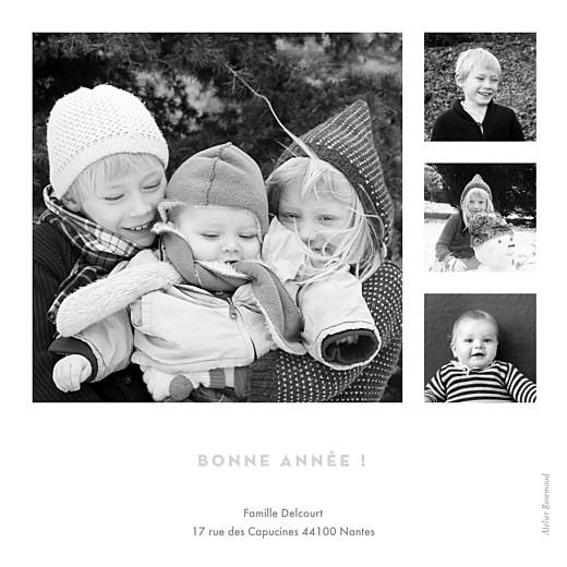Carte de voeux Boule de noël 4 photos bleu - Page 2