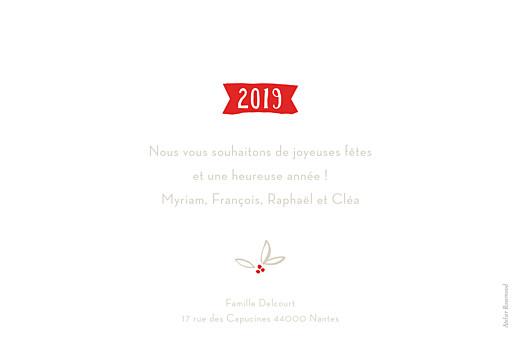 Carte de voeux Douce année photo blanc - Page 2