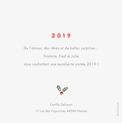 Carte de voeux Houx & pin (4 photos) crème - Page 2